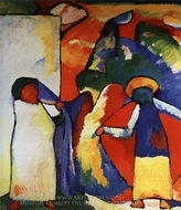 Improvization 6 (African) painting reproduction, Wassily Kandinsky