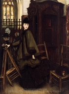 In Church painting reproduction, James Tissot
