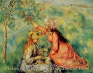 In the Fields by Pierre-Auguste Renoir
