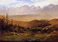 In the Foothills of the Rockies painting reproduction, Albert Bierstadt