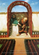 In the Gazebo painting reproduction, Arnold Bocklin