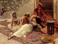 In the Harem 1 painting reproduction, Fabio Fabbi