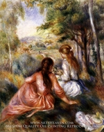 In the Meadow by Pierre-Auguste Renoir