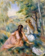 In the Meadow painting reproduction, Pierre-Auguste Renoir
