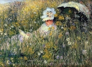 In the Meadow painting reproduction, Claude Monet