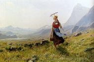 In the Mountains painting reproduction, Hans Dahl