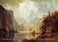 In the Mountains painting reproduction, Albert Bierstadt
