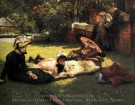 In the Sunshine painting reproduction, James Tissot