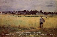 In the Wheatfields at Gennevillers by Berthe Morisot