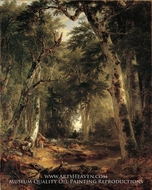 In the Woods painting reproduction, Asher Brown Durand