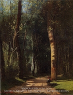 In the Woods painting reproduction, Camille Pissarro