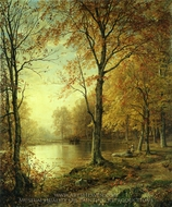Indian Summer painting reproduction, William Trost Richards
