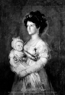 Infanta Maria Luisa and Her Son Carlos Luis painting reproduction, Francisco De Goya