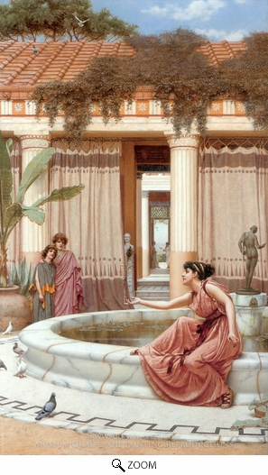 Painting Reproduction of Innocent Amusements, John William Godward