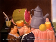 Interior painting reproduction, Fernando Botero