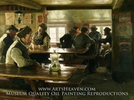 Interior of a Tavern painting reproduction, Peter Severin Kroyer