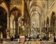 Interior of Antwerp Cathedral painting reproduction, Paul Vredeman De Vries