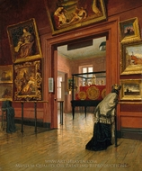Interior View of the Metropolitan Museum of Art when in Fourteenth Street painting reproduction, Frank Waller