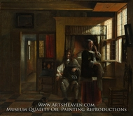 Interior with a Young Couple by Pieter De Hooch