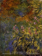 Irises by Claude Monet