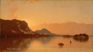 Isola Bella in Lago Maggiore painting reproduction, Sanford Robinson Gifford