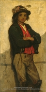 Italian Boy painting reproduction, William Morris Hunt