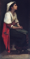Italian Girl painting reproduction, William Morris Hunt
