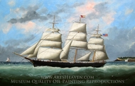 Jacob A. Stamler Departing Le Havre painting reproduction, Adam Edouard