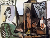 Jacqueline in the Studio by Pablo Picasso (inspired by)