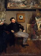 James-Jacques-Joseph Tissot painting reproduction, Edgar Degas