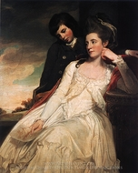 Jane Maxwell, Duchess of Gordon and her Son the Marquis of Huntly painting reproduction, George Romney