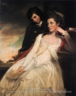 Jane Maxwell, Duchess of Gordon and her Son the Marquis of Huntly by George Romney
