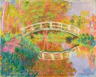 Japanese Footbridge, Giverny painting reproduction, Claude Monet