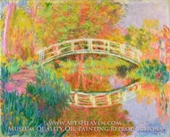 Japanese Footbridge, Giverny by Claude Monet
