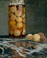 Jar of Peaches painting reproduction, Claude Monet