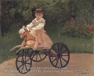Jean Monet on his Mechanical Horse by Claude Monet