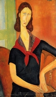 Jeanne Hebuterne in a Scarf painting reproduction, Amedeo Modigliani