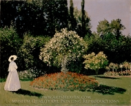 Jeanne-Marguerite Lecadre in the Garden painting reproduction, Claude Monet