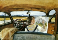 Jo in Wyoming painting reproduction, Edward Hopper