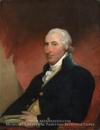 John Shaw painting reproduction, Gilbert Stuart