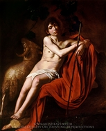 John the Baptist painting reproduction, Caravaggio