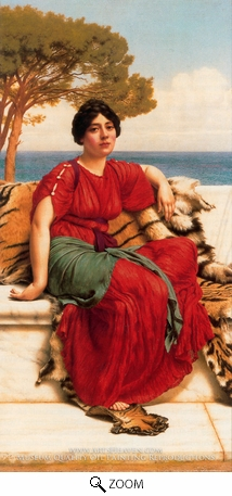 Painting Reproduction of John W. by the Blue Ionian Sea, John William Godward
