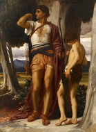 Jonathan's Token to David painting reproduction, Lord Frederic Leighton