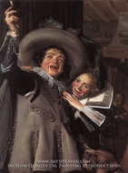 Young Man and Woman in an Inn (Yonker Ramp and His Sweetheart) by Frans Hals