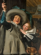 Jonker Ramp and his Sweetheart painting reproduction, Frans Hals