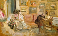 Jos and Lucie Hessel in the Small Salon, Rue de Rivoli painting reproduction, Edouard Vuillard