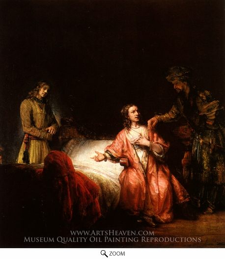 an analysis of rembrandt joseph accused by potiphars wife Rembrandt is believed by many to be the greatest painter of his time, of any time he had a gift for making his paintings come to life, the people seem real it.
