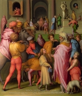 Joseph Sold to Potiphar painting reproduction, Jacopo Pontormo