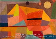 Joyful Mountain Landscape by Paul Klee