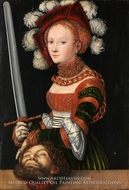 Judith with the Head of Holofernes by Lucas Cranach